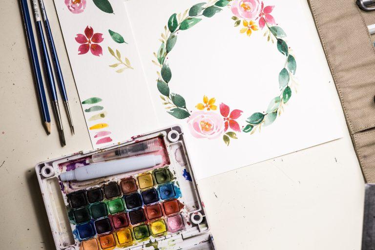 Ch4. Tips Dasar dalam Komposisi Lukisan Karangan Bunga